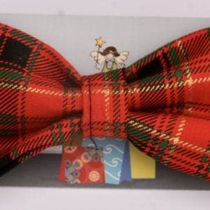 Dog Bow Tie-Red Plaid