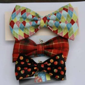 Dog Bow Tie-Silver Fern