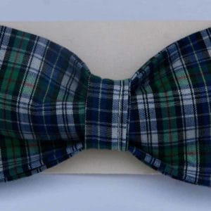 Dog Bow Tie-Green and Blue Plaid